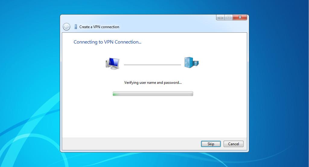 Connecting to a VPN through Windows 8